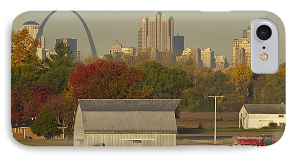 Carls Barn And The Arch IPhone Case by Garry McMichael