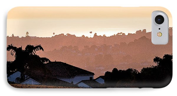 IPhone Case featuring the digital art Carlsbad Sunset by Kirt Tisdale