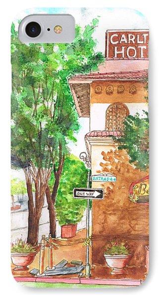 Carlton Hotel En Atascadero - California IPhone Case by Carlos G Groppa