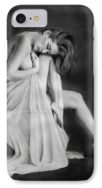 IPhone Case featuring the drawing Carly by Joseph Ogle