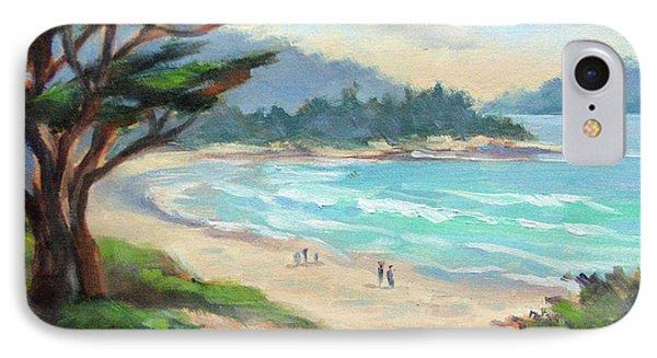 Carmel Beach Evening Light IPhone Case by Karin  Leonard