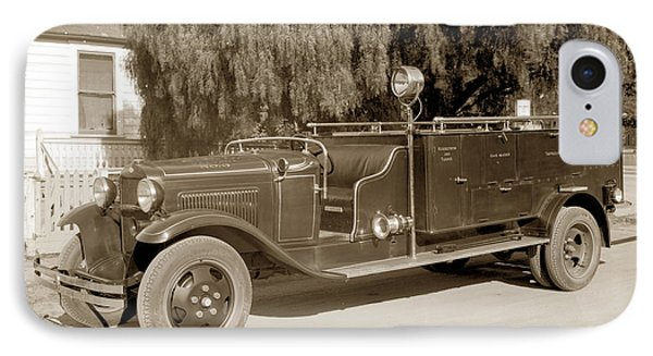 Carmel Fire Department Engine No. 3  Circa 1933 IPhone Case by California Views Mr Pat Hathaway Archives