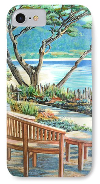 IPhone Case featuring the painting Carmel Lagoon View by Jane Girardot