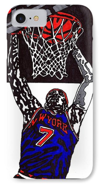 Carmelo Anthony Phone Case by Jeremiah Colley