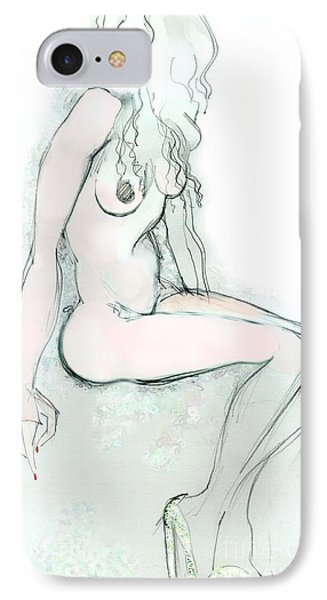 Carmen As Pussy L'amour - Female Nude IPhone Case by Carolyn Weltman