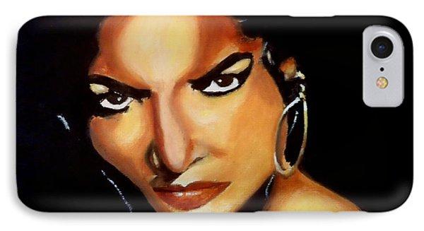Carmen - Original Painting  IPhone Case by Manuel Sanchez