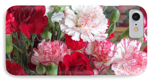 Carnation Cluster IPhone Case by Christina Verdgeline