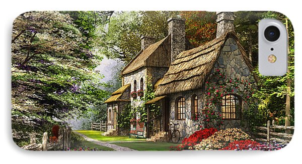 Carnation Cottage IPhone Case by Dominic Davison