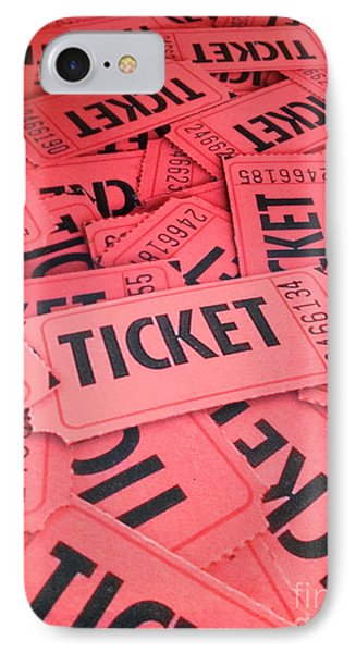 Carnaval Ticket IPhone Case by Jerry Bunger