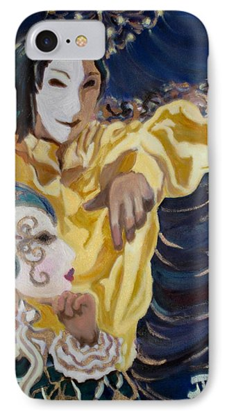 IPhone Case featuring the painting Carnevale Venezia by Julie Todd-Cundiff