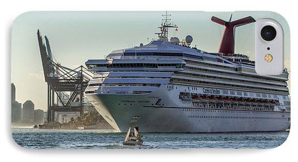 Carnival Cruise Line Destiny Phone Case by Rene Triay Photography