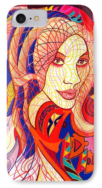 Carnival Girl IPhone Case by Danielle R T Haney