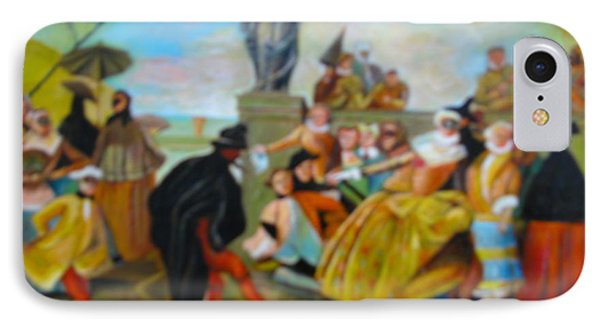 IPhone Case featuring the painting Carnival Of Venice by Egidio Graziani