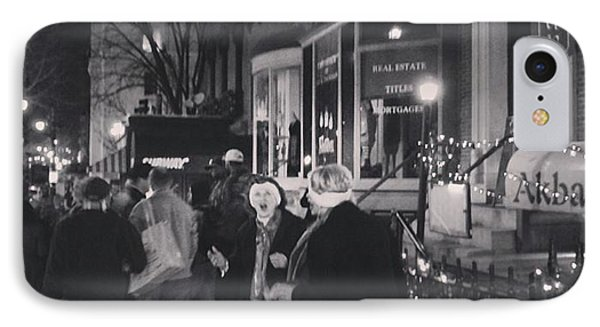 Carolers On North Charles Street December 2013 IPhone Case by Toni Martsoukos