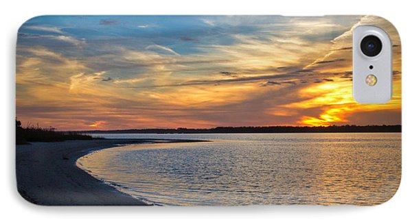 Carolina Beach River Sunset II IPhone Case