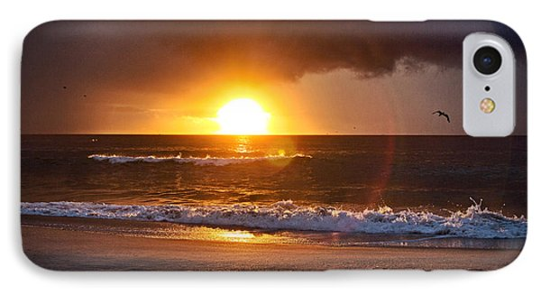 IPhone Case featuring the photograph Carolina Beach Sunrise by Phil Mancuso