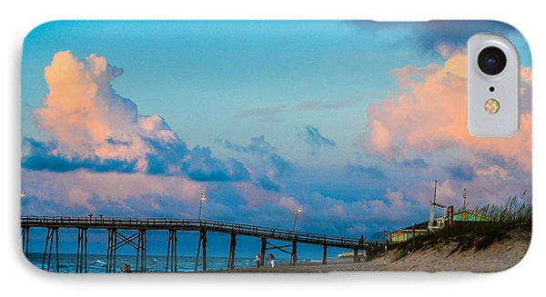 Carolina Blue Over Kure Beach IPhone Case by Mary Ward