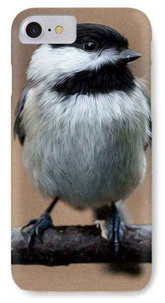Carolina Chickadee Phone Case by John Haldane