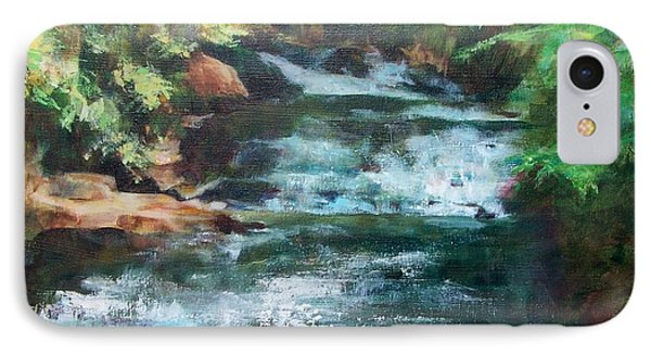 IPhone Case featuring the painting Carolina Falls by Mary Lynne Powers