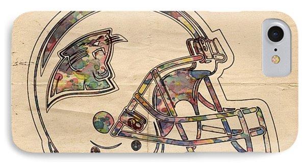 Carolina Panthers Logo Art IPhone Case by Florian Rodarte
