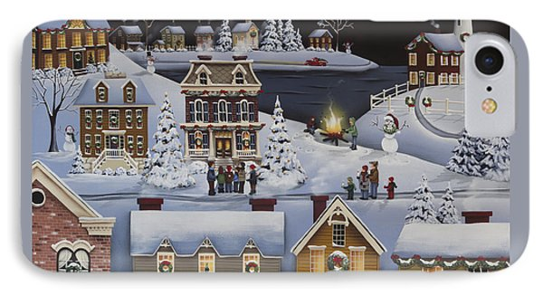Caroling In Winterberry IPhone Case by Catherine Holman