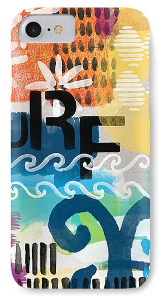 Carousel #7 Surf - Contemporary Abstract Art IPhone Case by Linda Woods