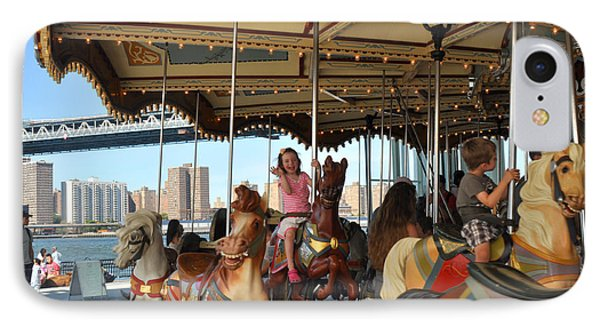 Carousel Brooklyn Bridge Park IPhone Case by Diane Lent