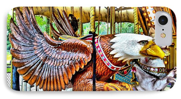 IPhone Case featuring the photograph Carousel Eagle by Margaret Newcomb