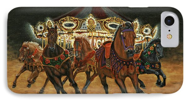 Carousel Escape At Night IPhone Case by Jason Marsh