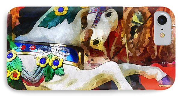 Carousel Horse Closeup IPhone Case by Susan Savad