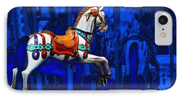 Carousel Horse IPhone Case by Gunter Nezhoda