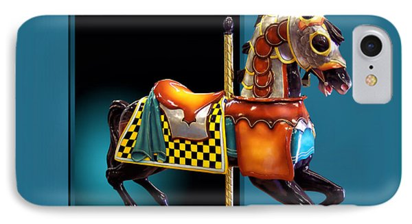 Carousel Horse Left Side Phone Case by Thomas Woolworth