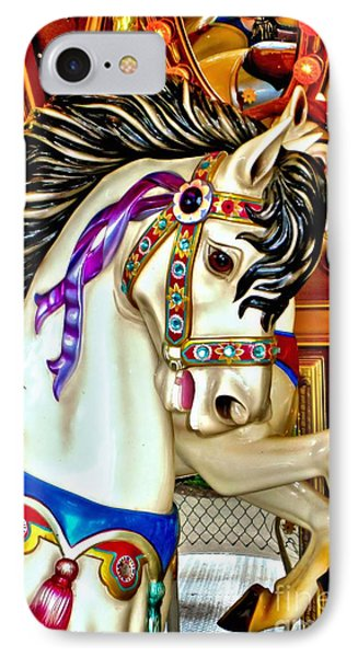 IPhone Case featuring the photograph Carousel Horse by Margaret Newcomb