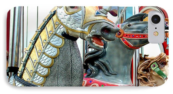 IPhone Case featuring the photograph Carousel Horse Race by Merton Allen