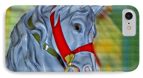 Carousel Horse Red Bridle Phone Case by Thomas Woolworth