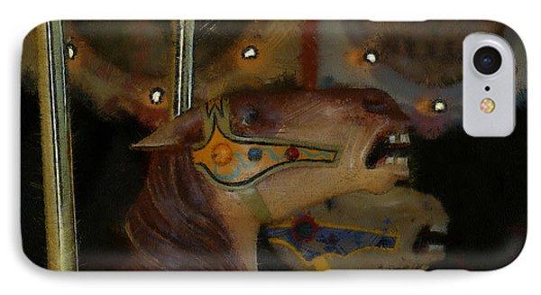 Carousel Horses Painterly Phone Case by Ernie Echols
