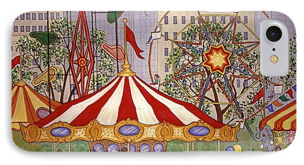 Carousel In City Park Phone Case by Linda Mears