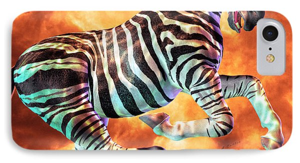 Carousel Zebra IPhone Case by Betsy Knapp