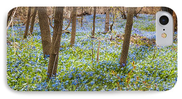 Carpet Of Blue Flowers In Spring Forest Phone Case by Elena Elisseeva
