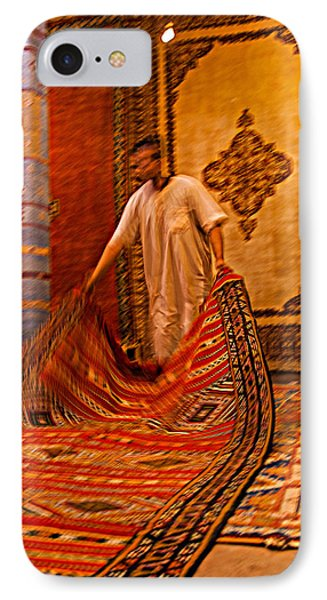 Carpet Workshop Near Ouarzazate In Morocco IPhone Case