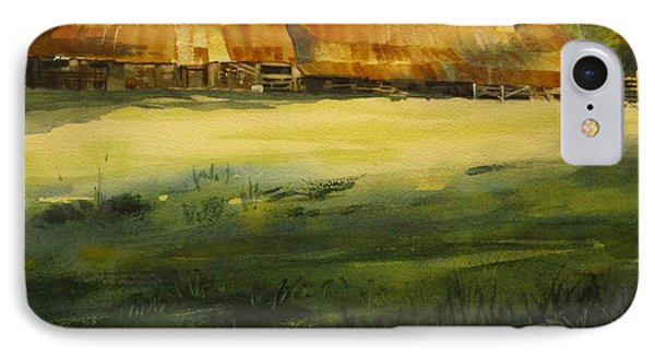 IPhone Case featuring the painting Carr Barn by Elizabeth Carr