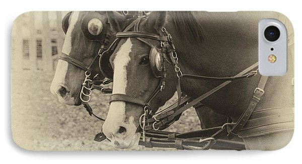 IPhone Case featuring the photograph Carriage Horses I by Terry Rowe