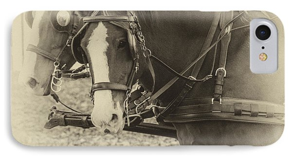 IPhone Case featuring the photograph Carriage Horses II by Terry Rowe