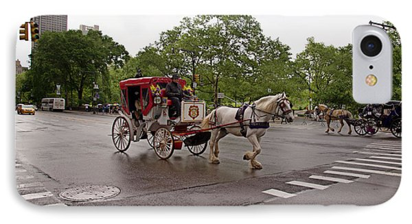 Carriage Ride In Central Park IPhone Case