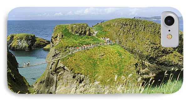Carrick-a-rede Rope Bridge IPhone Case by Panoramic Images