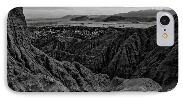 IPhone Case featuring the photograph Carrizo Badlands Bw Nov 2013 by Jeremy McKay