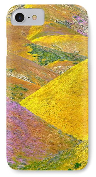 Carrizo Wildflowers Vertical IPhone Case by Marc Crumpler
