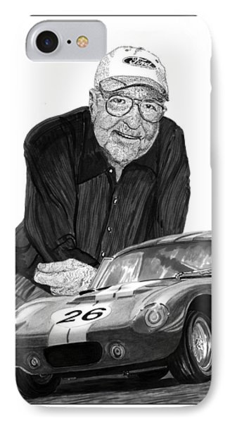 Carroll Shelby    Rest In Peace Phone Case by Jack Pumphrey