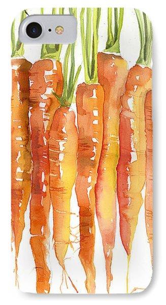 Carrot iPhone 7 Case - Carrot Bunch Art Blenda Studio by Blenda Studio