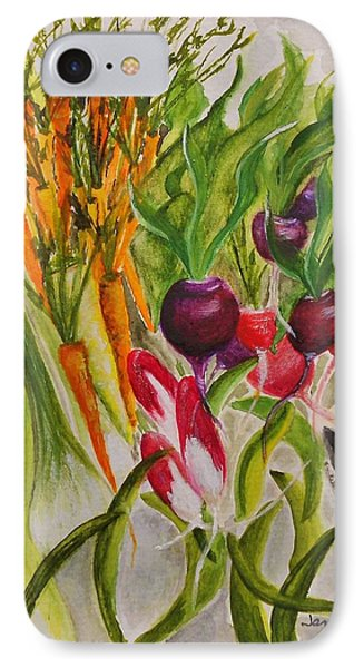 Carrots And Radishes Phone Case by Jamie Frier